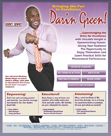 Darin Green website